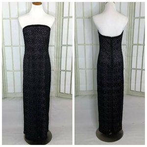 B'Zar Strapless Evening Dress Sequin Illusion